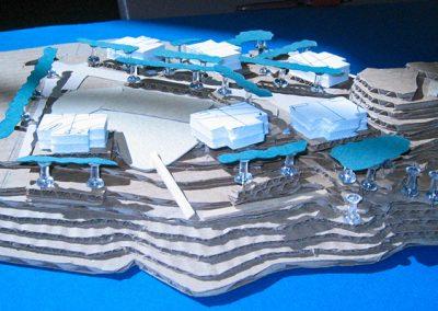 Resort Site Plan, Rough Model