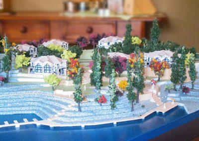 Resort Site Plan, Finished Model